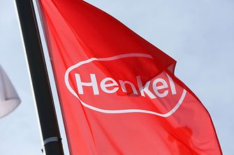 Red flag with Henkel logo